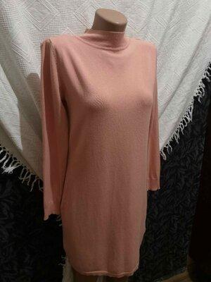 Туника S, удлиненная женская кофта, кофта с горлышком, кофта с вырезом, платье-гольф, деловая туника