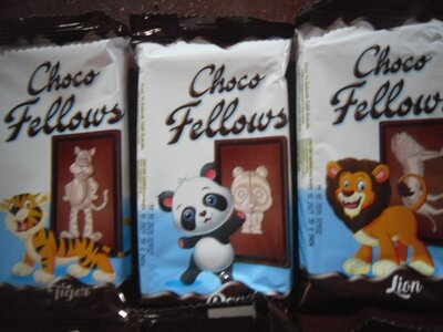 Готовим подарочки Молочный шоколад с изображениями животных,пр-ва Турции, 38 грамм