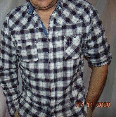Катоновая стильная нарядная фирменная рубашка Германия бренд Angelo Litrico.л.