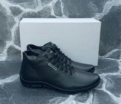 Продано: Мужские Зимние Ботинки Ecco Classic кожаные,черные,с мехом