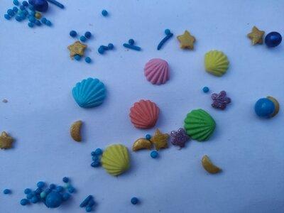 Сахарные фигурки ракушки для украшения кондитерских изделий