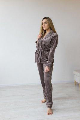 Плюшевый костюм для дома и сна пижама рубашка штаны разные цвета XS S M L XL XXL