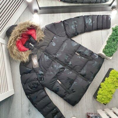 Мужской пуховик ~ Зимняя мужская куртка с капюшоном