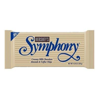 Продано: Hersheys Symphony кремовый молочный шоколад с миндалем и ириской Сша 120 грамм chocolate candy bar w