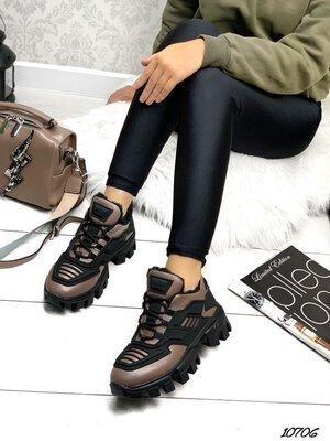 Женские натуральные замшевые кожаные зимние кроссовки