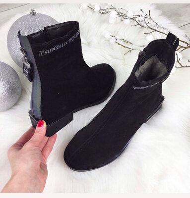 Замша, Кожа р.36-41 Натуральные женские ботиночки ботинки зима зимние деми демисезонные