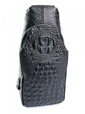 Мужская кожаная сумка через плечо бананка чоловіча шкіряна сумочка