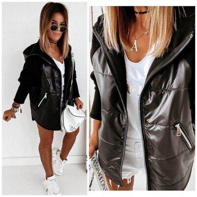 Женская куртка плащевка/трикотаж. Размер 42 по 58