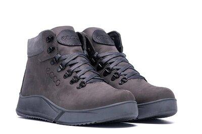 Мужские зимние ботинки Чоловічі черевики из натуральной кожи.ECCO