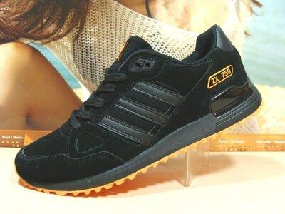 Мужские кроссовки Adidas ZX 750 черный 41р-46р
