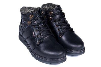 Мужские кожаные зимние ботинки, зимние ботинки