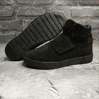 Мужские зимние ботинки Adidas model -AS65 натуральная замша