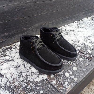 Новинка сезона UGG Угги ботинки мужские на шнурках короткие замша натуральная Зима 2020