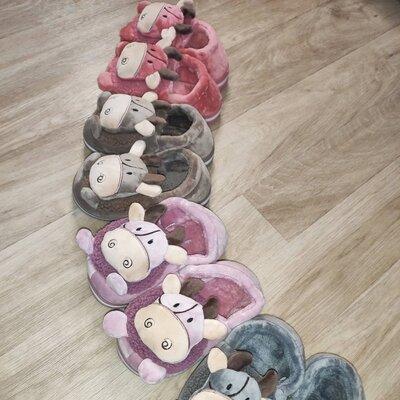 Детские домашние комнатные тапочки Бычок