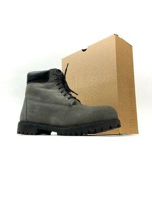 Ботинки зимние Timberland Gray Fure Premium
