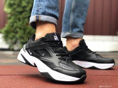 Nike M2K Tekno кроссовки демисезонные мужские черные с белым 10117