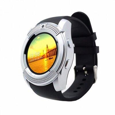 Умные смарт-часы Smart Watch V8. Цвет серебро