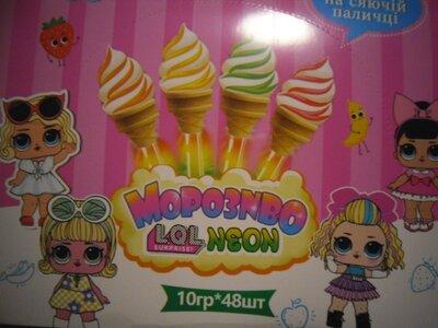 Льодяник LOL морозиво сяюча паличка 10 грам з різними фруктовими смаками .Цена за штуку