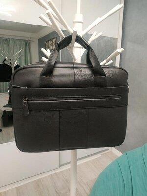 Кожаная мужская сумка, портфель для ноутбука/документов