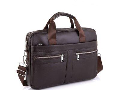 Мужская кожаная сумка для ноутбука Бесплатная доставка A25-1120C портфель натуральная кожа