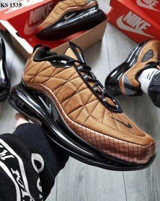 Как оригинал. Кроссовки мужские Nike Air Max AM720-818 коричневые KS 1535