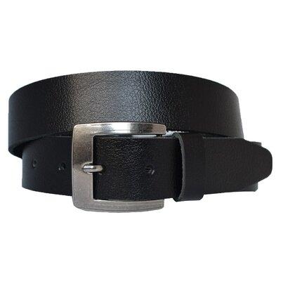 Черный кожаный мужской ремень для джинсов Alex40