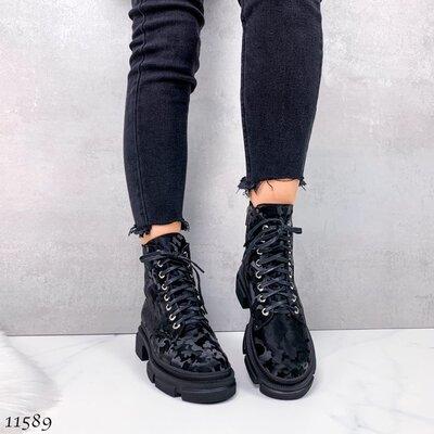 Продано: Женские натуральные кожаные зимние ботинки на шнуровке на низком ходу