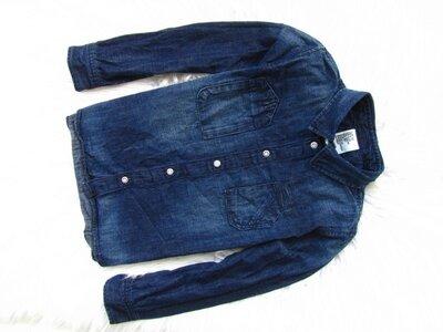 Качественная джинсовая рубашка H&M