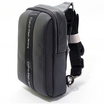 Рюкзак на одно плечо слинг текстильный черный Calvin Klein