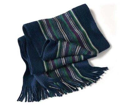 Теплый двусторонний мужской шарф с шерстью от Tchibo