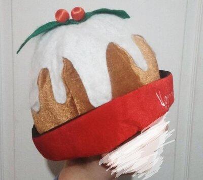 Новогодняя шапка кексик. рождественская шапка прикол