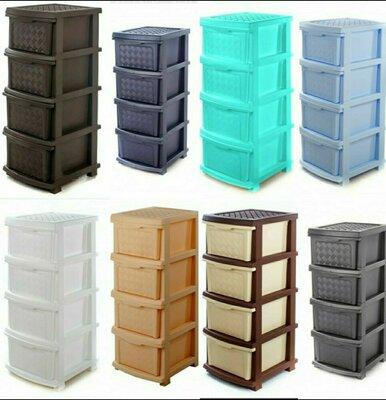Пластиковый комод, шкафчик, тумбочка на 4 ящика