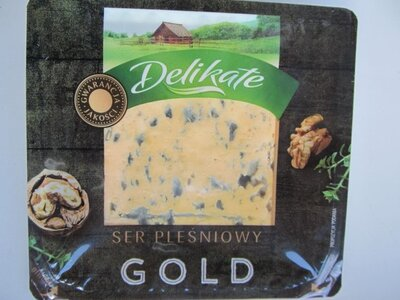 Сыр Delikate GOLD созревающий с приростом плесени 100 г. Польша.