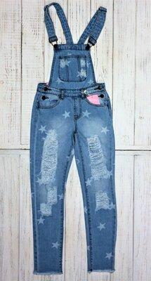 Низька ціна-супер якість Стильні джинсові комбінезони для дівчинки Угорщина