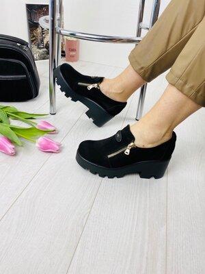 Женские туфли натуральная замша брэнд Kluchini
