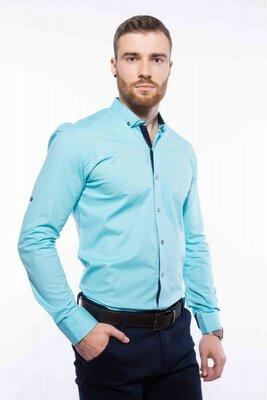 Рубашка мужская с мелким принтом