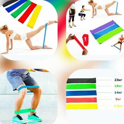 Набор фитнес резинок 5шт