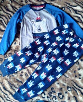 Новая флисовая пижама 128