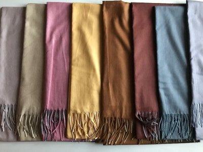 Кашемировые шарфы, переход цвета, разные расцветки