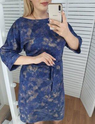 Платье женское ангора,цвет бежевый,р50-52-54-56