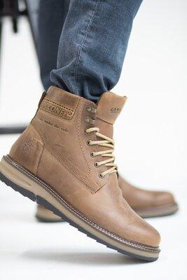Мужские деми ботинки из натуральной кожи на байке, код gavk-Riccone 550 OL