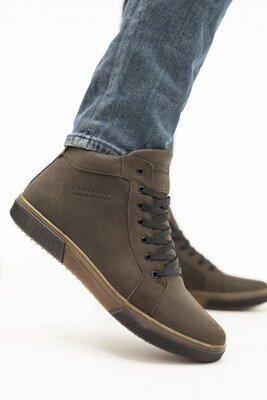 Мужские зимние ботинки из натуральной кожи на меху, код gavk-Anser x500 Emirro