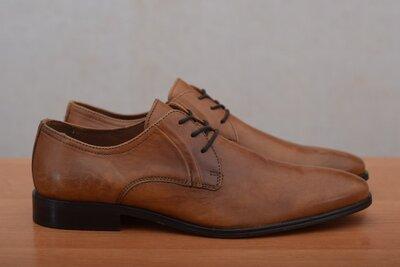 Кожаные коричневые мужские туфли Minelli. 42 размер. Оригинал