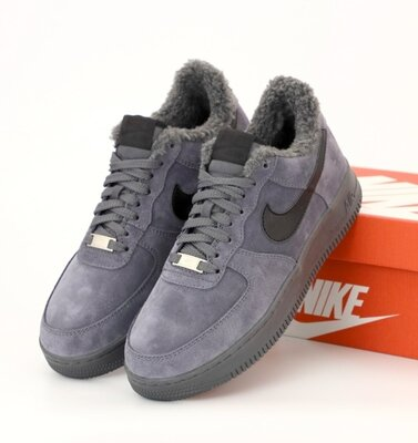 Зимние мужские кроссовки ботинки Nike Air Force Winter. Натуральная замша