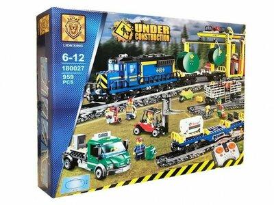 Конструктор детский грузовой поезд на радиоуправлении