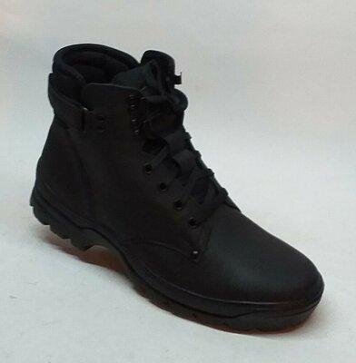 Мужские кожаные ботинки Мида 14356 зимоходы, антигололёд
