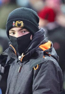 Шапка зимняя мужская акриловая черная Шапка зимова чоловіча акрилова чорна MK Dons FC