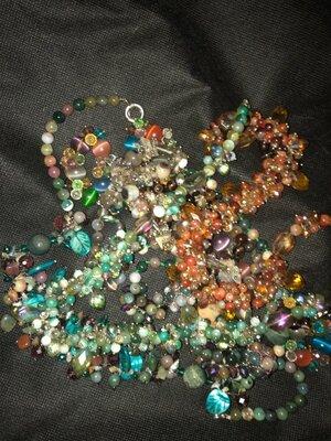 Продано: Ожерелья из натуральных камней в ассортименте