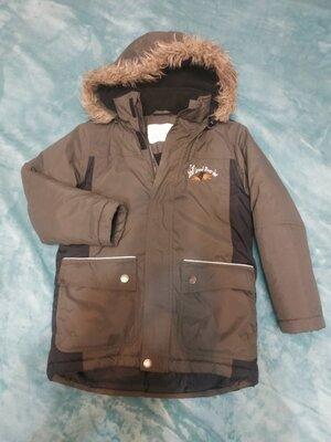 Куртка зима на мальчика. Хаки Черный р.140