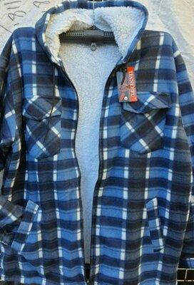 Рубашки утепленные мехом 8 размеров